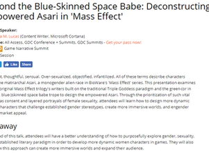Speaker at GDC 2018: Beyond the Blue-Skinned Space Babe