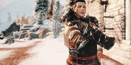 Krem standing triumphant at Iron Bull's side