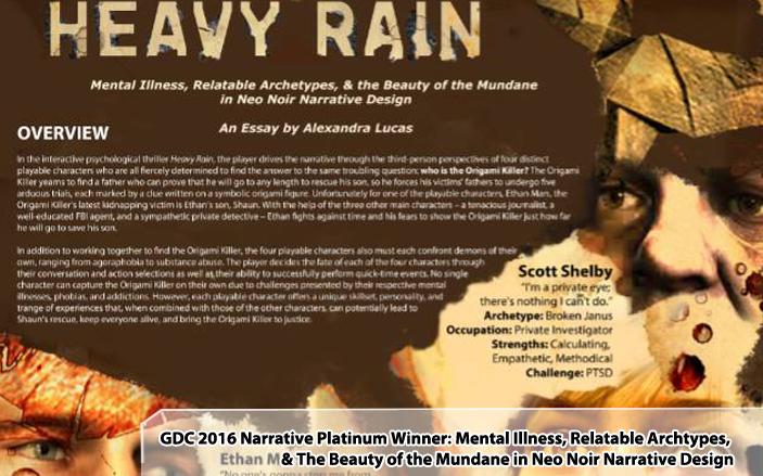 GDC Narrative Review Platinum Winner