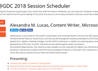 Speaker at GDC 2018: Two Additional Presentations