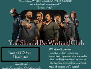 First Meeting of You Should Be Writing! Club