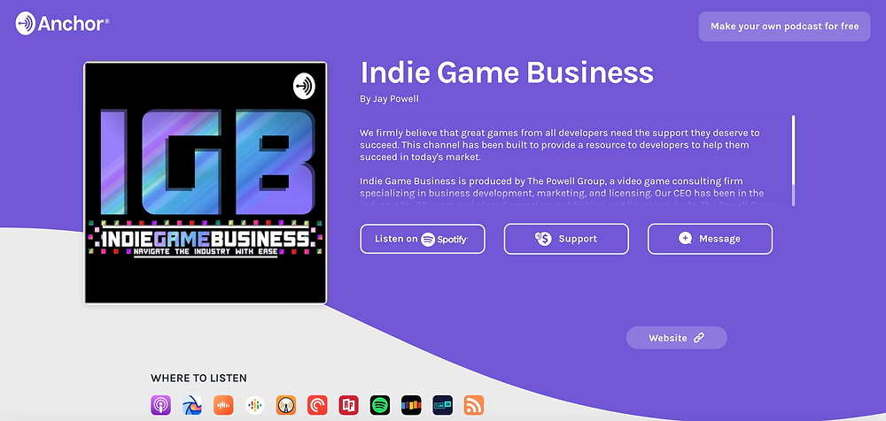 Indie Game Business Podcast