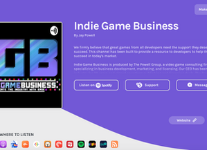 "Panelist: ""How to Build Your Network Through Speaking Engagements"" on the Indie Game Busin"