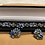 Thumbnail: Beautiful 1950's Signed Lisner Blue Rhinestone Bracelet & Clip Earrings Set