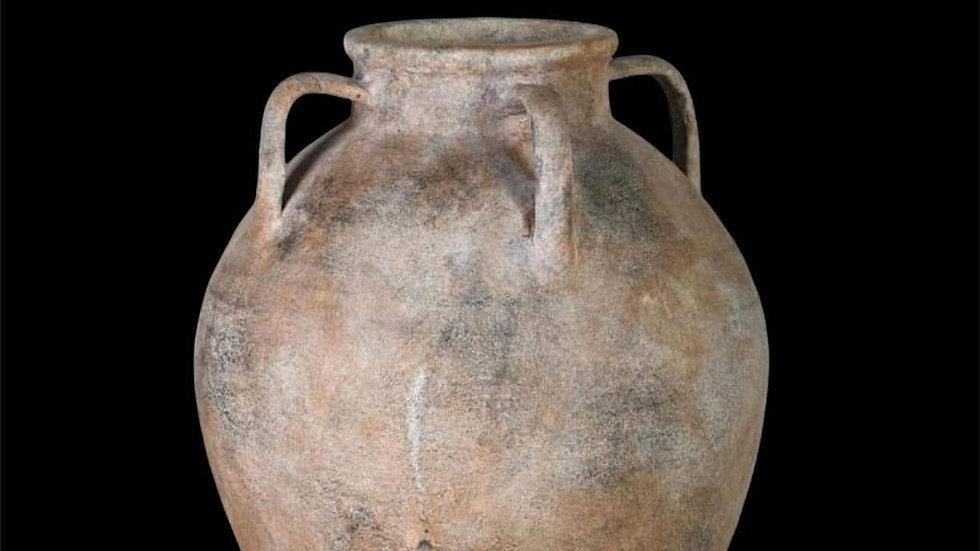 Mottle Terracotta 4 Handle Pot