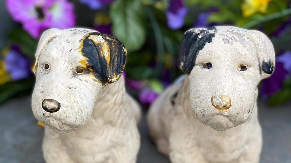 Plaster Dog Figures