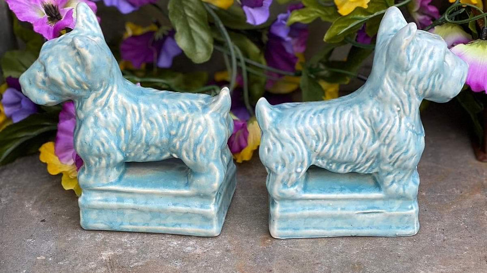 Ceramic Dog Bookends