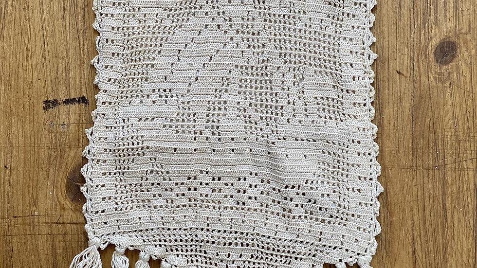 Crochet Handmade Lace Edwardian Drawstring Bag