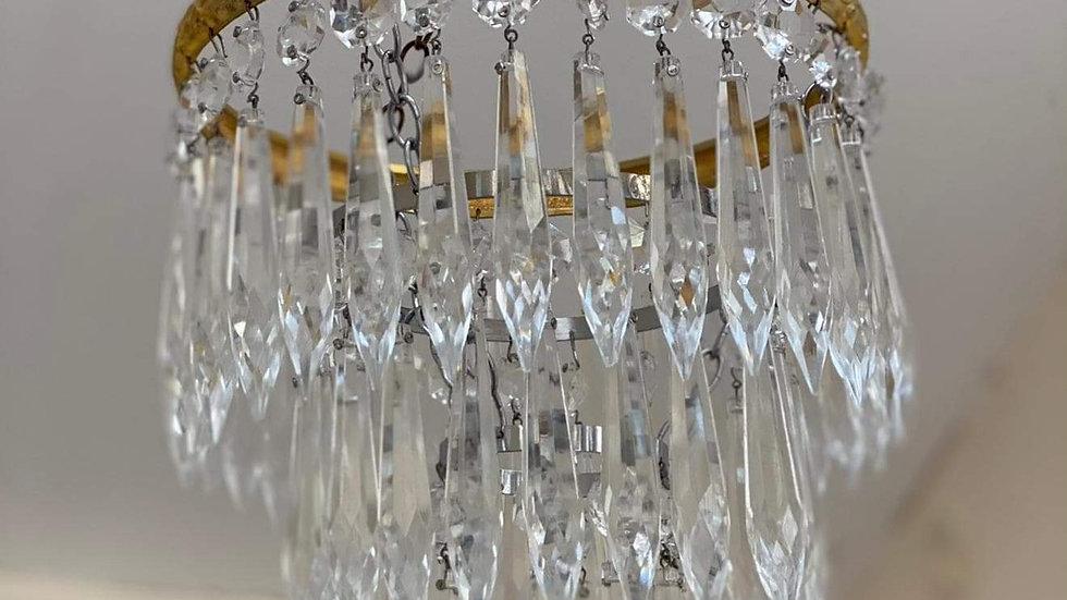 Edwardian Crystal Dropper Chandelier