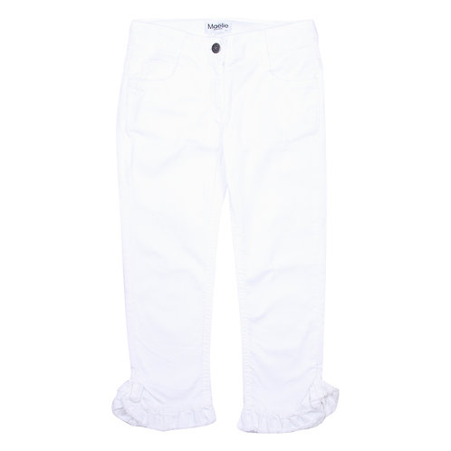 Maelie Italy Ruffle Jeans - White