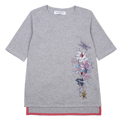John Galliano Kids  Embroidered Tee