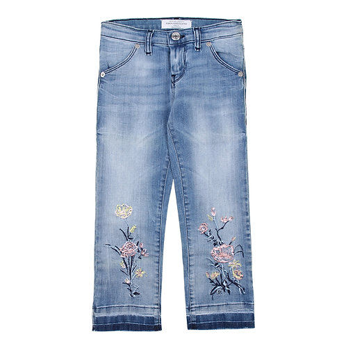 John Galliano Kids  Embroidered Jeans