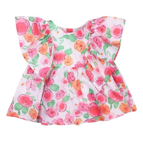 Gaudì Ruffle Floral Top
