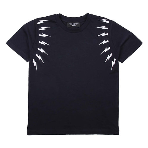 Neil Barrett Kids - Fairisle Thunderbolt T-Shirt