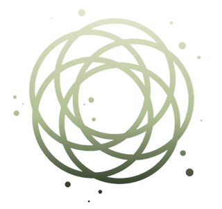 Logo: circles overlapping to show intersections of life + balance