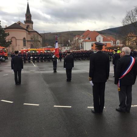 PASSATION DE COMMANDEMENT CHEZ LES SAPEURS-POMPIERS DE WINTZENHEIM
