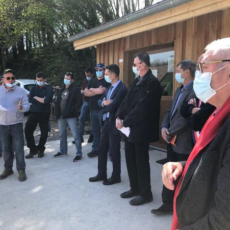 VISITES D'EXPLOITATION AVEC LA CHAMBRE D'AGRICULTURE ET LE PREFET