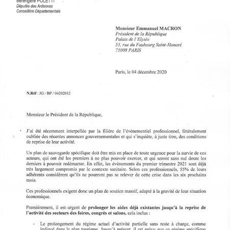 SITUATION ALARMANTE DE L'EVENEMENTIEL PROFESSIONNEL