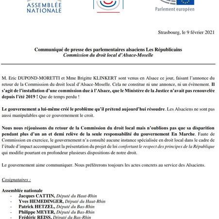 COMMISSION DU DROIT LOCAL D'ALSACE-MOSELLE
