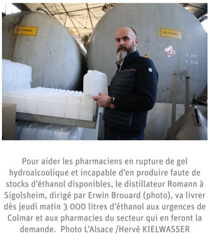 FABRICATION de GEL HYDROALCOOLIQUE : POINT SUR LA SITUATION