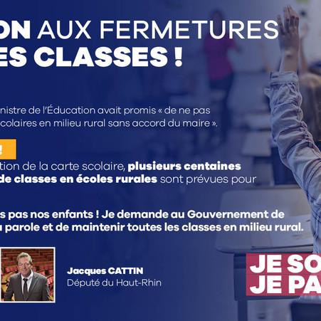 NON AUX FERMETURES DE CLASSES !