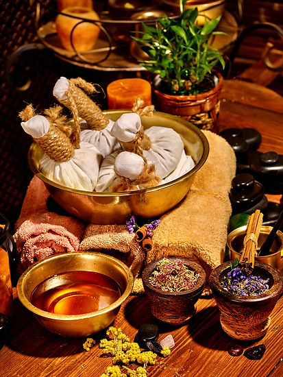 Luxury ayurvedic spa massage still life. Stone therapy..jpg