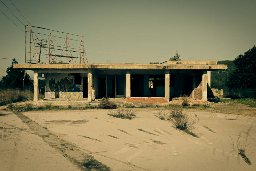 Abandoned gas stations