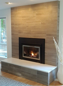 Contemporary tile with hearth