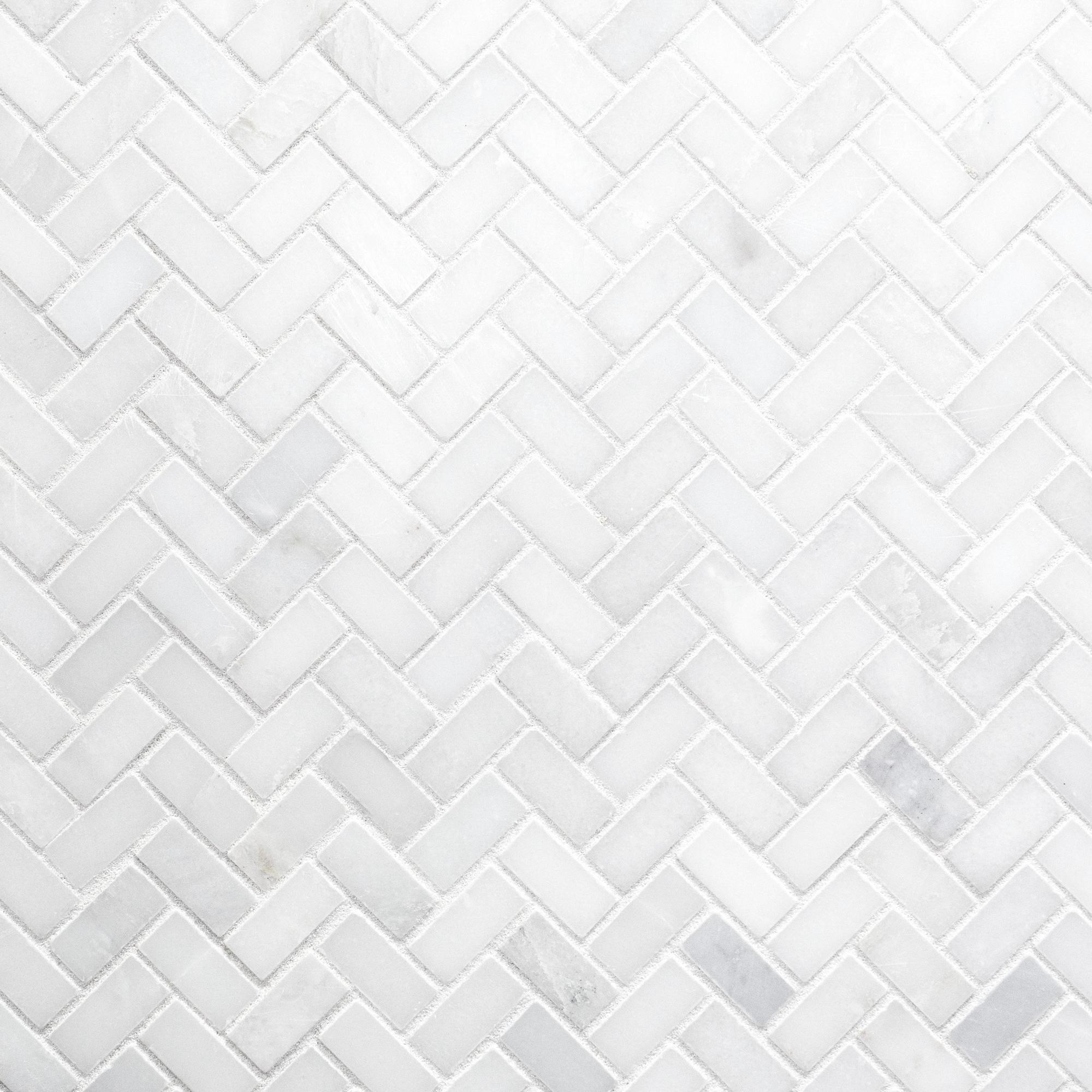 Carrara MarbleCarrara White Herringbone