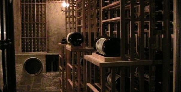 Wine cellar with triple magnum bottles