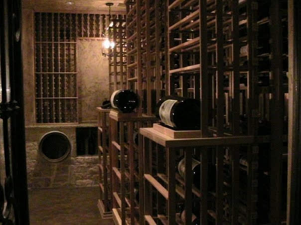 Wine cellar with triple magnum bottles