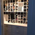 Custom shoe closet with 97 shoe cubbies