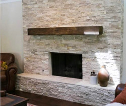 Light stacked stone with hearth