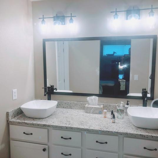 Built to fit custom 60_ vanity