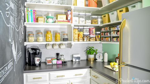 Pantry with cabinets