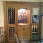Built in chilled wine storage