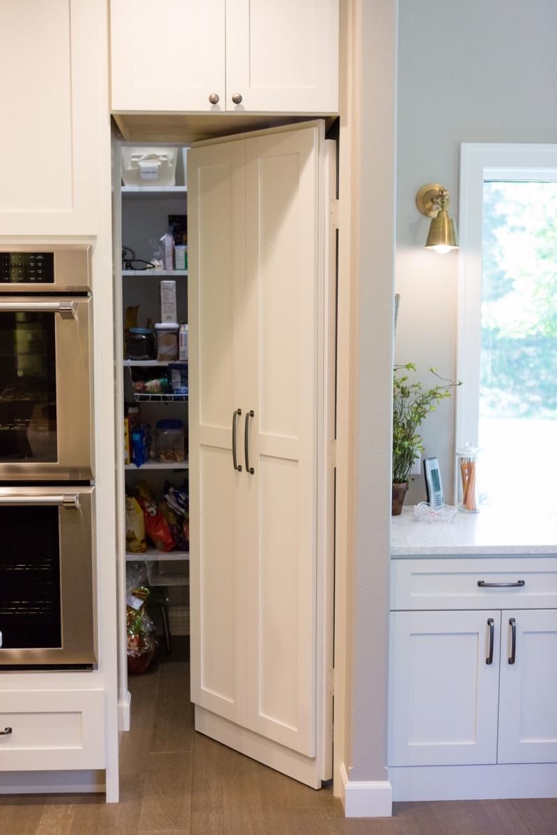 Hidden walk in pantry