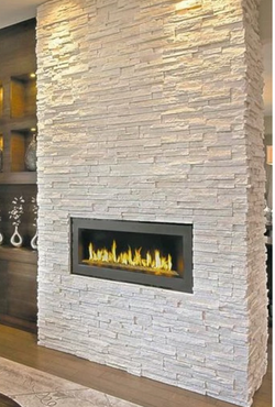 Contemporary light stacked stone