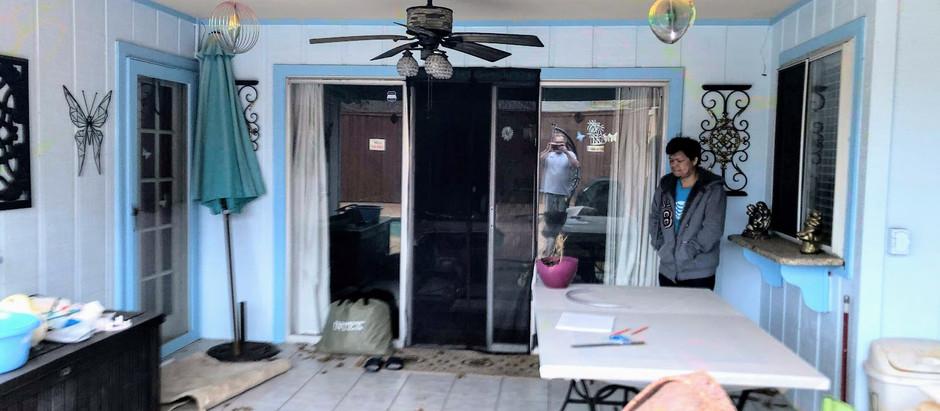 Recent completed job - enclose a patio