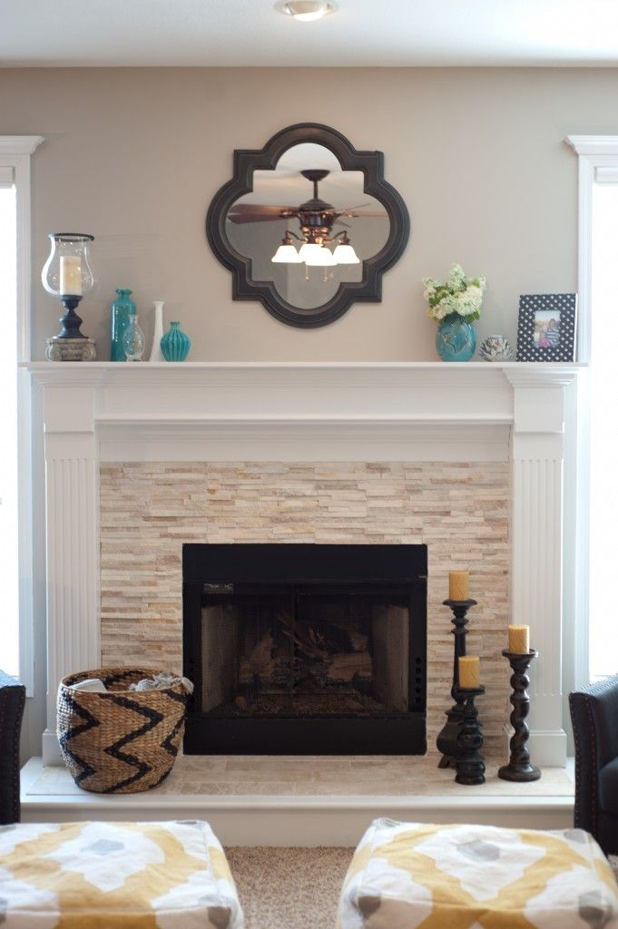 Stacked Stone Mantel Surround