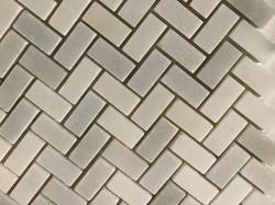 Carrera White Herringbone Mosaic