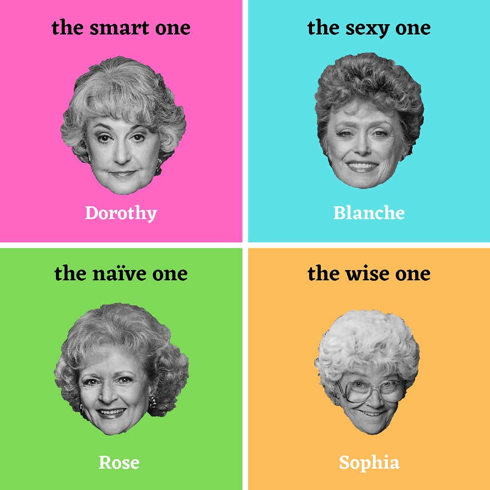 personality types of the golden girls