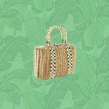 sophias purse - enough wicker - golden g