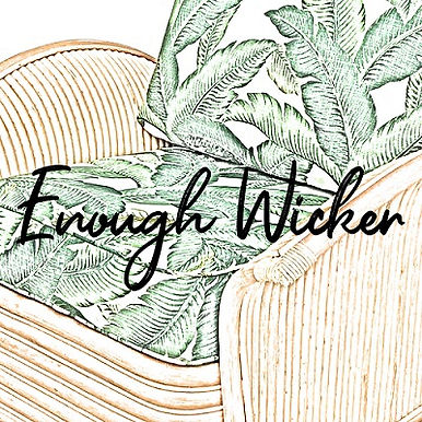 Enough Wicker Golden Girls podcast logo.
