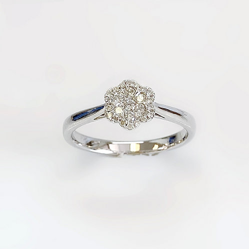 7 Full Cut Gold Diamond Ring