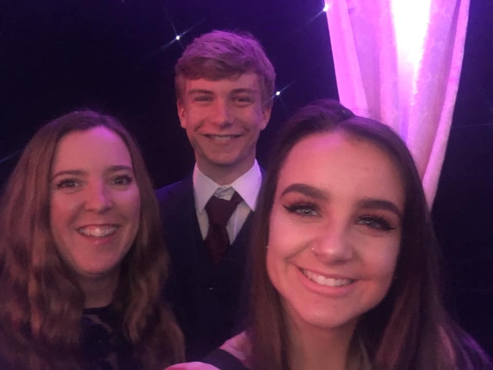 Three work colleagues, selfie