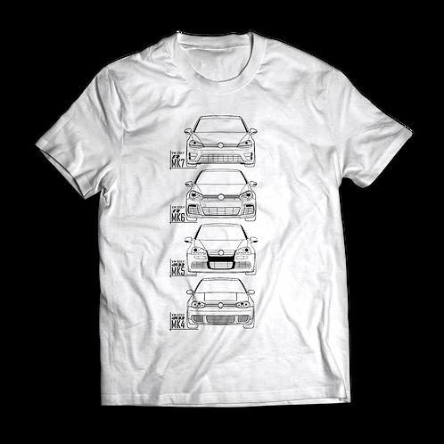 VW Golf MK7, MK6, MK5, MK4 R / R32 - T-Shirt / Tee / Tshirt