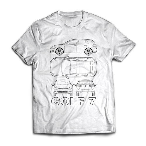 VW Golf MK7 Blueprint T-Shirt / Tee / Tshirt