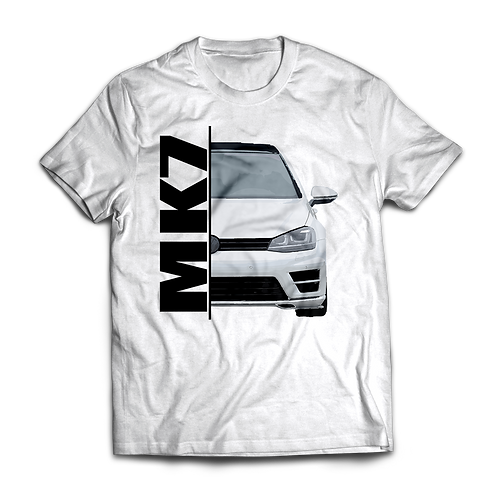 White VW Golf MK7 R T-Shirt / Tee / Tshirt