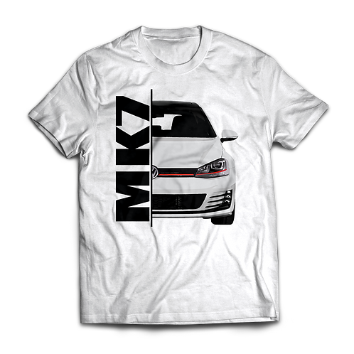 White VW Golf MK7 GTI T-Shirt / Tee / Tshirt